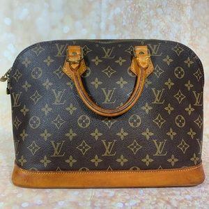 Authentic Louis Vuitton Monogram Alma Satchel bag